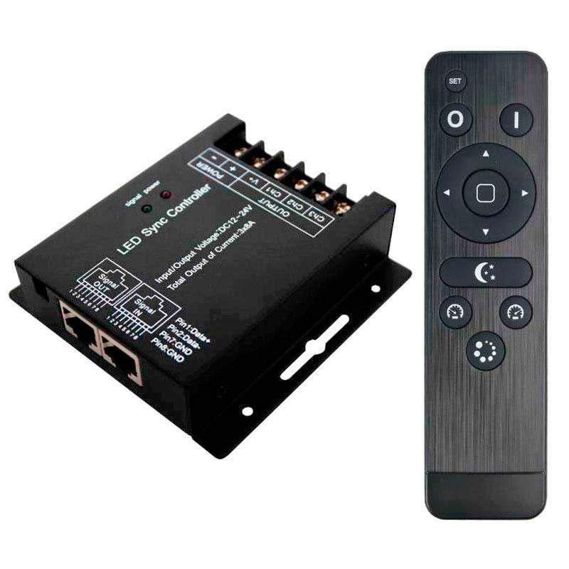 Controlador monocolor DUAL RF SYNC + mando